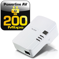 200Mbps Powerline AV