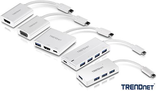 TRENDnet erweitert die USB-C Produktreihe um Hubs