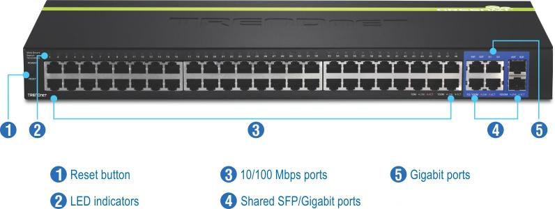 48-Port 10/100 Mbps Web Smart Switch