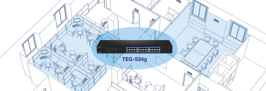 24-Port Gigabit GREENnet Switch