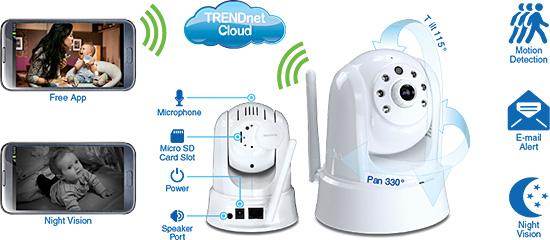 Hd Wireless Day Night Ptz Cloud Camera Trendnet Tv Ip862ic