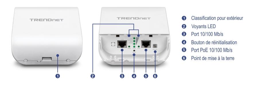 kit de pont point point pr configur poe ext rieur wifi n 300 10 dbi trendnet tew 740apbo2k. Black Bedroom Furniture Sets. Home Design Ideas