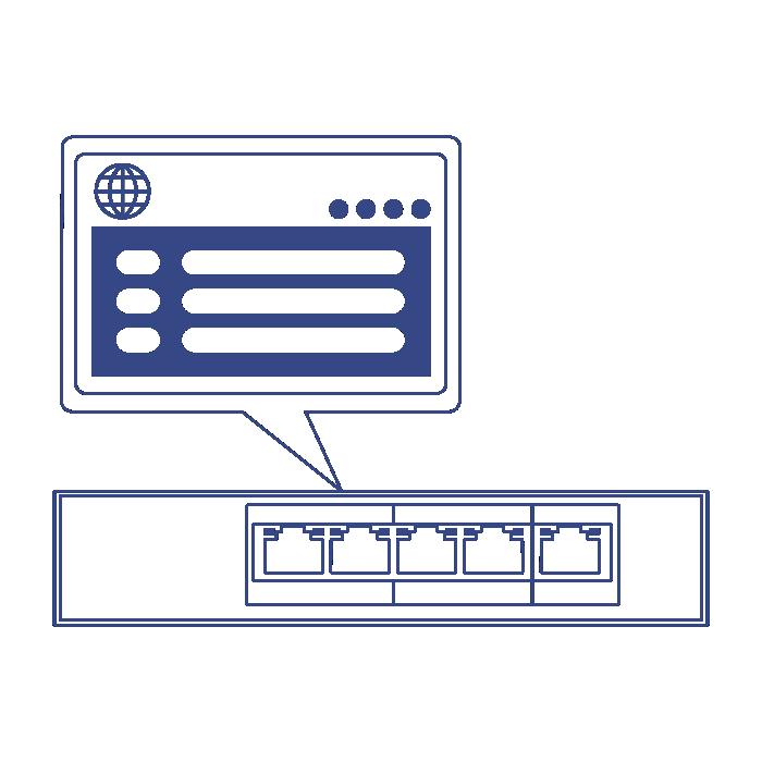 5-Port Gigabit PoE+ Powered EdgeSmart Switch with PoE Pass-Through