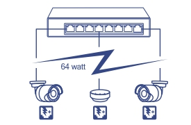 8-Port Gigabit EdgeSmart PoE+ Switch