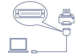Convertisseur usb vers parall le 1284 trendnet tu p1284 - Convertisseur port parallele vers usb ...