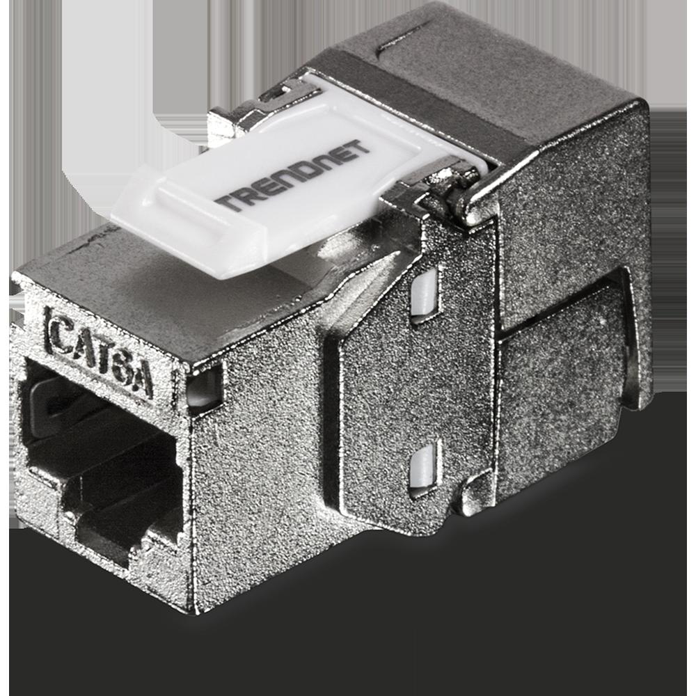 Shielded Cat6a Keystone Jack 6 Pack Trendnet Tc K06c6a