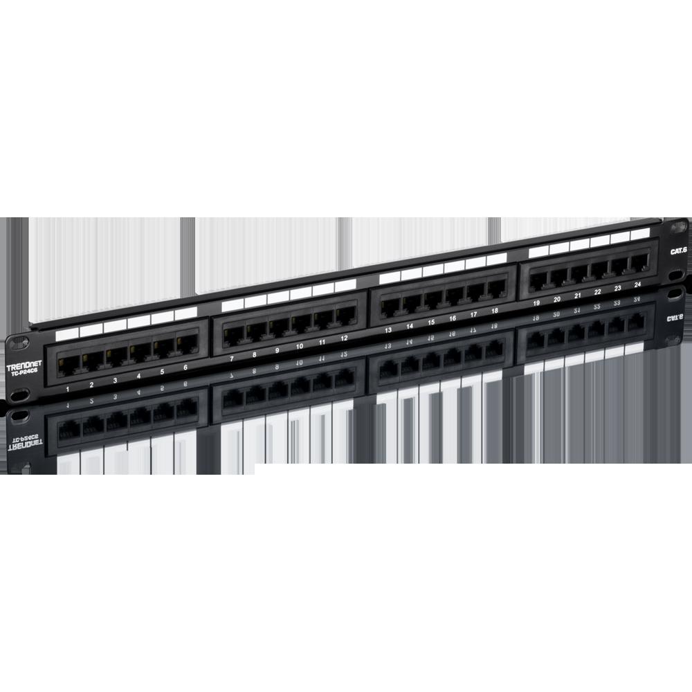 24 Port Cat6 Unshielded Patch Panel Trendnet Tc P24c6 19 Wiring Diagram Mirror