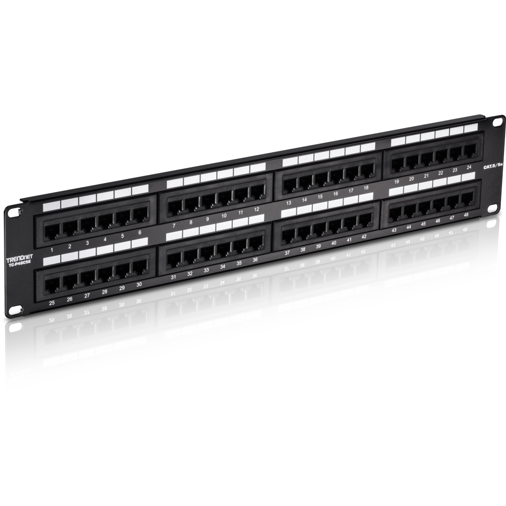48-port Cat5  5e Unshielded Patch Panel