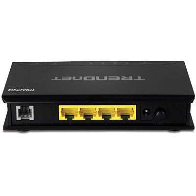 4-Port ADSL 2/2+ Modem Router - TRENDnet TDM-C504