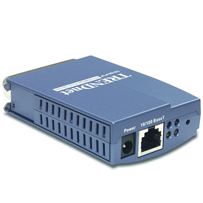 10/100Mbps Mini Print Server with 1 Parallel Printer Port ...