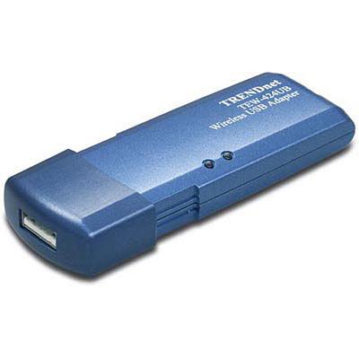 54Mbps 802.11g Wireless USB 2.0 Adapter - TRENDnet TEW-424UB