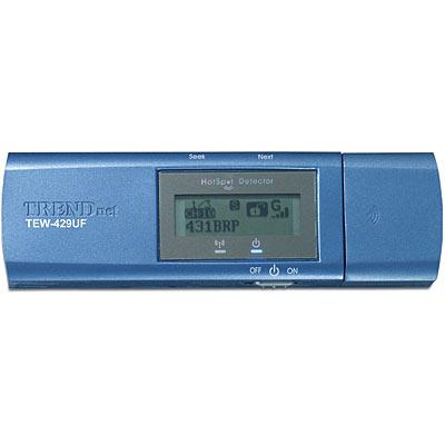 54Mbps Wireless G USB Adapter w/ HotSpot Detector w/ 512Mb