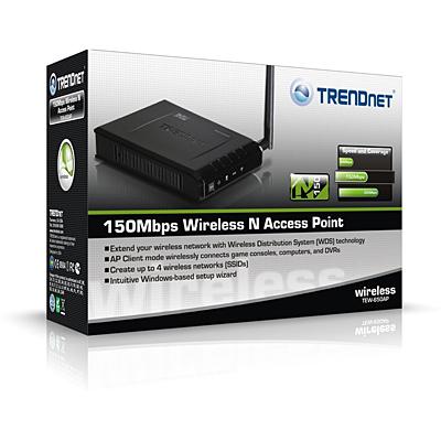 N150 Wireless Access Point - TRENDnet TEW-650AP