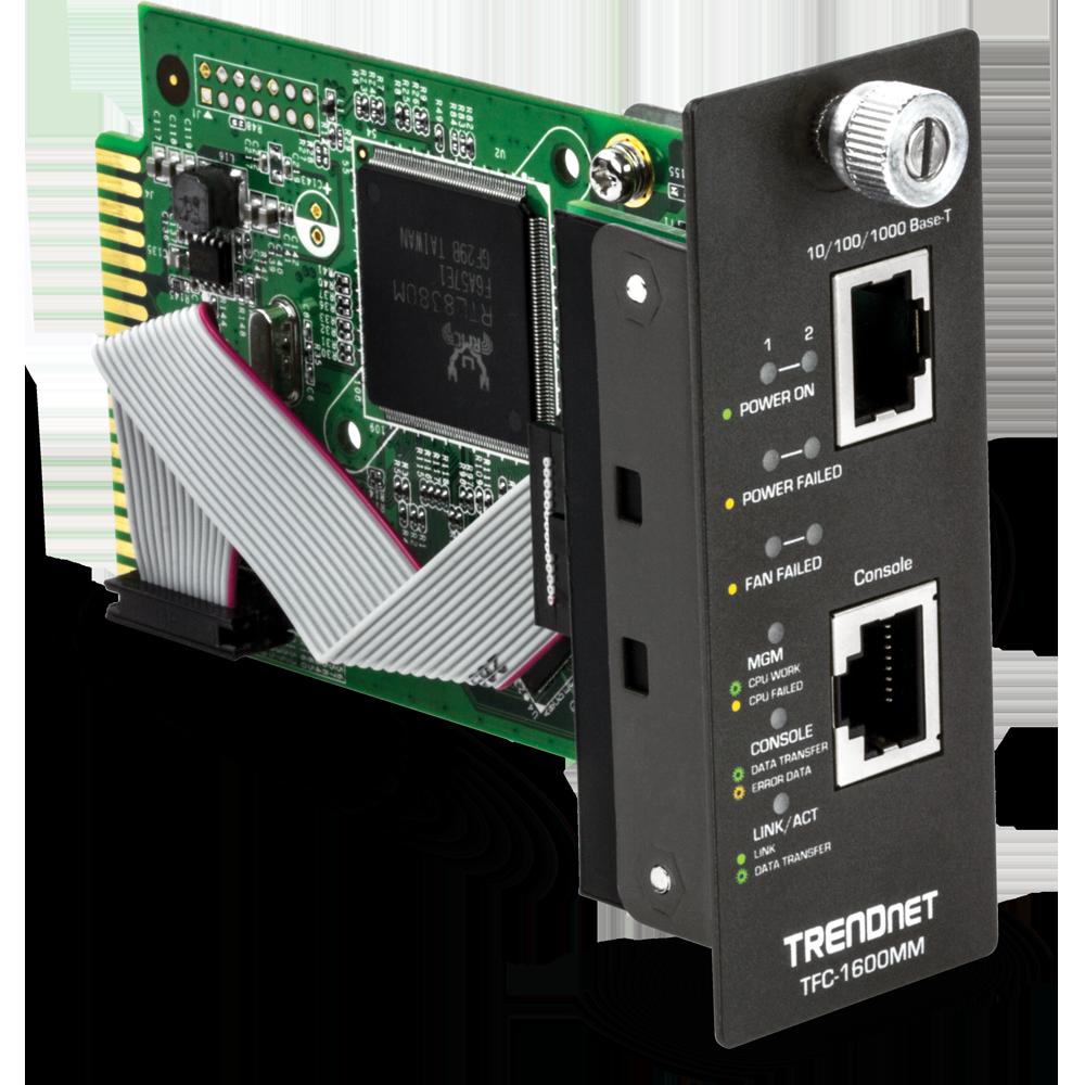 TFC-1600 SNMP Management Module - TRENDnet TFC-1600MM
