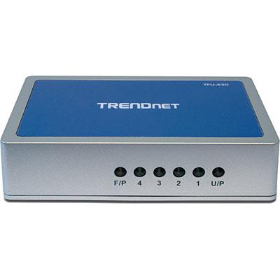 7-facher USB/FireWire-Kombinations-Hub - TRENDnet TFU-430