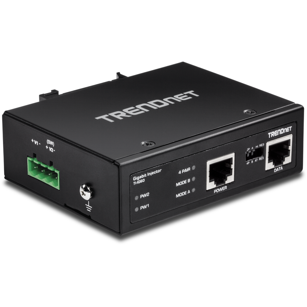 Hardened Industrial 60 Watt Gigabit Upoe Injector Trendnet Ti Ig60 Midspan And A Powered Device Looks Something Like This Angle1