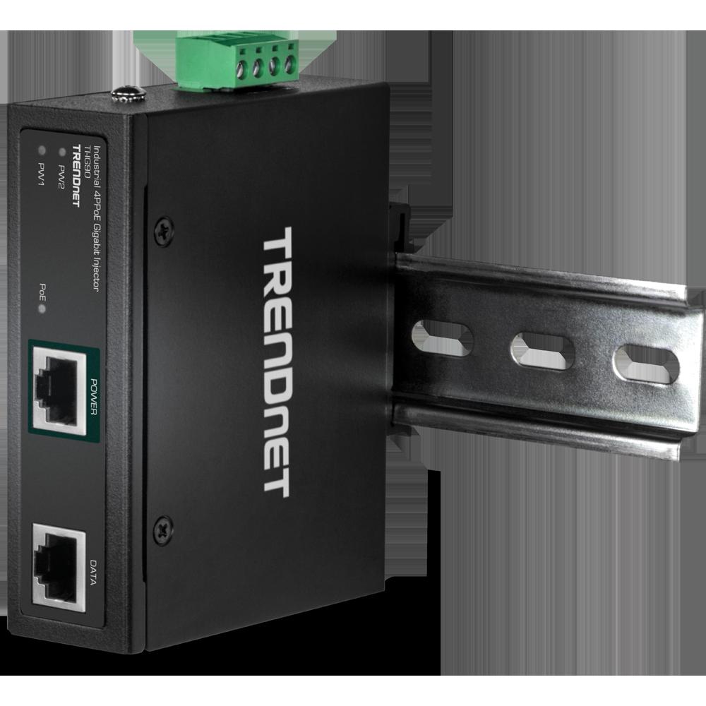 Inyector Gigabit 4PPoE Industrial Reforzado De 90W