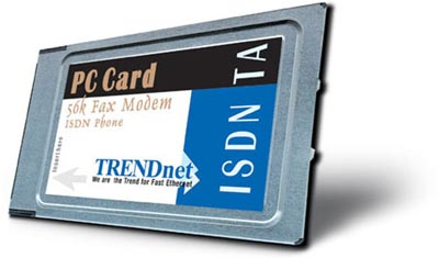 ISDN TA 56K Fax Modem Phone PC Card With S T Interface
