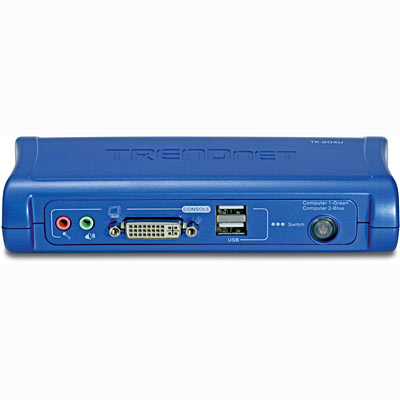 2-Port DVI USB KVM Switch with Audio Kit - TRENDnet TK-204UK