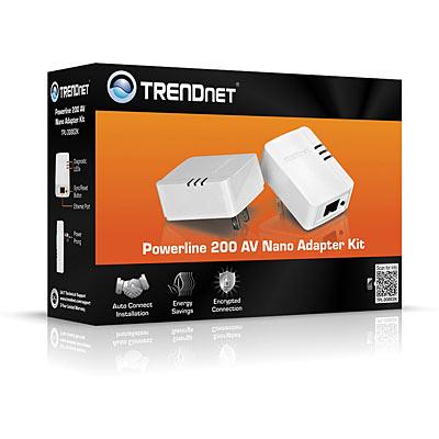 Powerline 200 Av Nano Adapter Kit Trendnet Tpl 308e2k