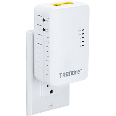 wifi everywhere powerline 500 av access point trendnet tpl 410ap. Black Bedroom Furniture Sets. Home Design Ideas