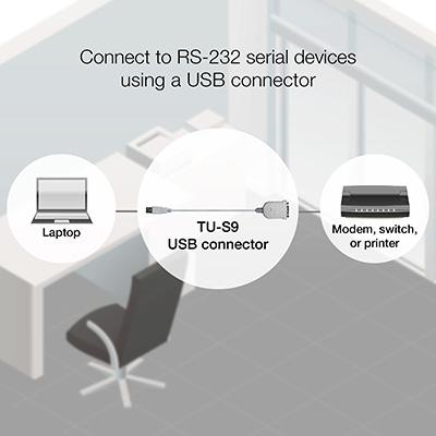 USB to Serial Converter - TRENDnet TU-S9