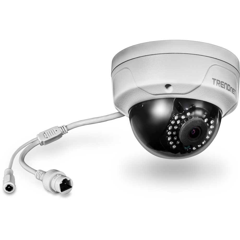 Indoor / Outdoor 4 MP PoE Dome Day / Night Network Camera ...