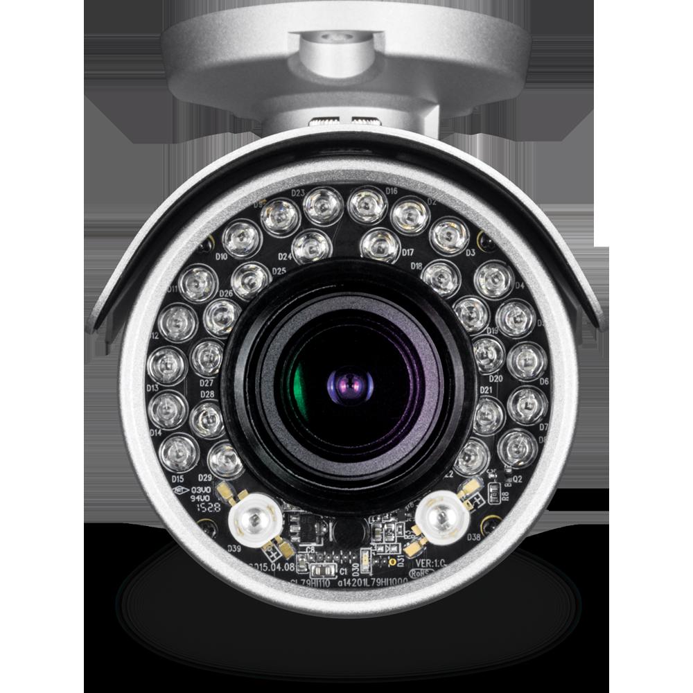 Indoor / Outdoor 4 MP Motorized Varifocal PoE IR Network Camera